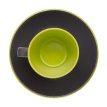 Espresso Kávés készlet 2 főre, fekete lime, melamin műanyag