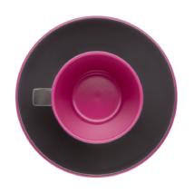 Espresso Kávés készlet 2 főre, fekete viola, melamin műanyag