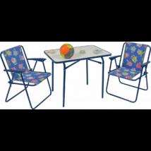 Gyerek kemping 1 asztal, 2 szék szett