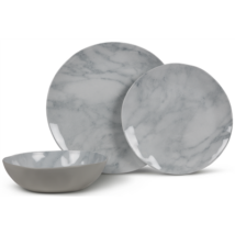 Marble artisan melamin étkészlet