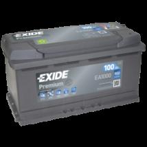 EXIDE Premium 12V 100Ah 900A jobb+ autó starter akkumulátor akku