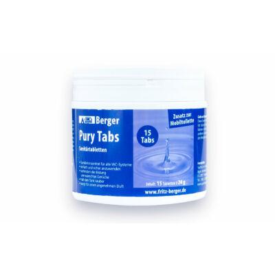 Pury tabs, WC vegyszer tabletta 15db/ doboz
