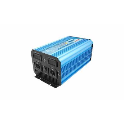 Inverter szinuszos 1500W, 12V/230V