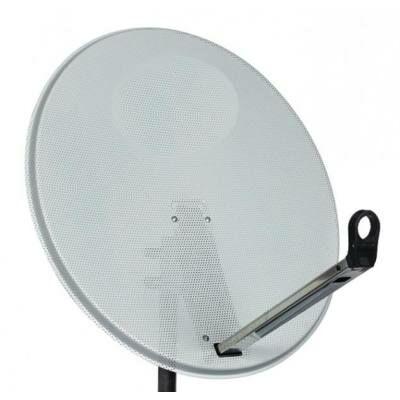 SAT parabola tányér 80 cm acél, karral, vevő fej nélkül