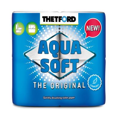 Thetford Aqua Soft WC papír könnyen oldódó, gyorsan lebomló, 4 tekercs