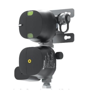 Gáznyomás-szabályozó ütközésérzékelővel (függőleges)