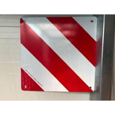 Premium aluminium fényvisszaverő piros-fehér tábla bringa tartóra