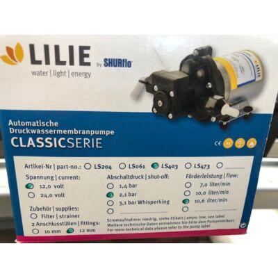 Lilie víz szivattyú, classic LP403, 12V Shurflo, 2,1 Bar, 10,6L