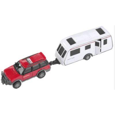 Játék Autó modell lakóautóval 28 cm