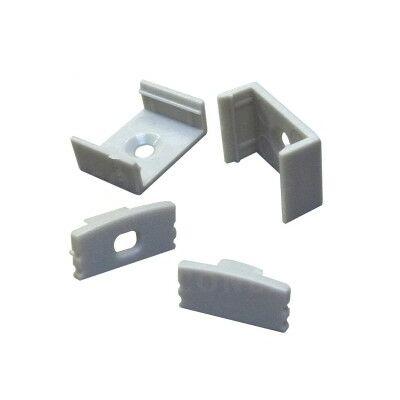 LED sínhez U alakú rögzítőszett, 1 db teli, 1 db lyulkas végzáró, 2 db rögzítőtalp